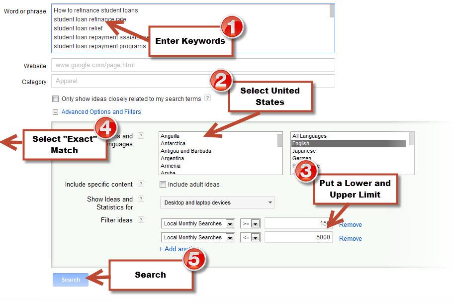 How To Use Google Keyword Tool
