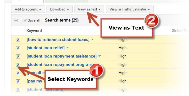 Select-Keywords