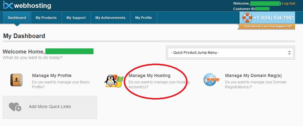 IXWebhosting login