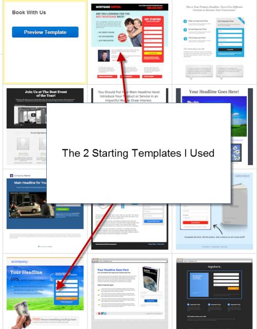 Starting templates