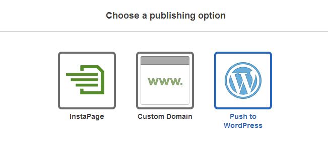 choose a publishing option