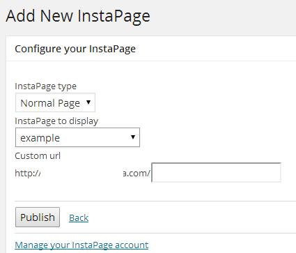 Add new InstaPage