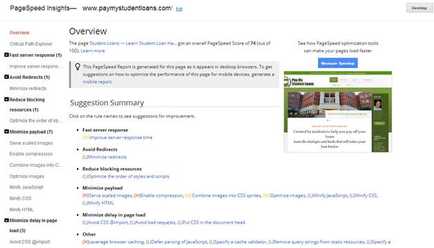 Hostgator - Google Website Page Speed Tools
