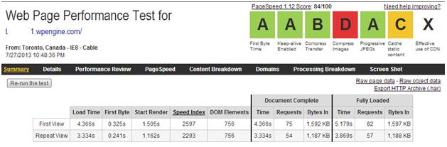 WPengine - Website Page  Test