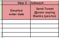 step 9- outreach