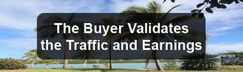 the buyer validates..