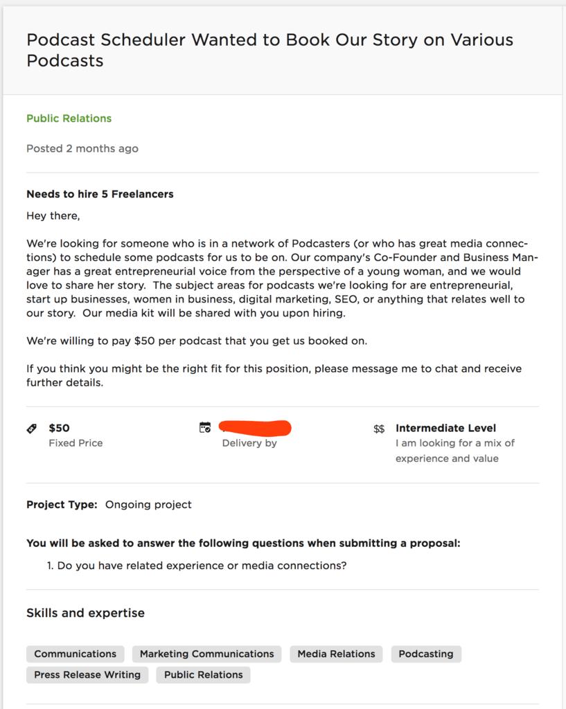 podcast specialist job description