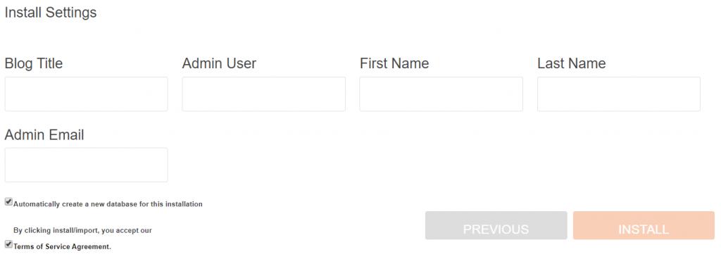 User-details-wordpress-installation