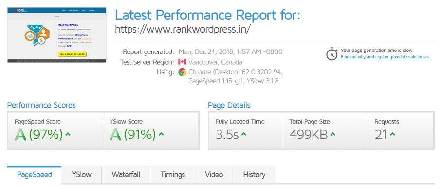 gtmetrix-test-autopimize-wordpress-plugin