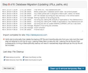 BackupBuddy Database Migration