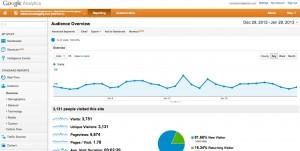 Google Analytics Main Page